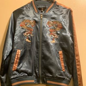 MissGuided Satin Jacket